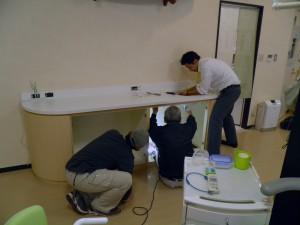 作業台の撤去