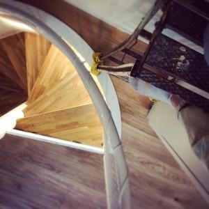 螺旋階段の踏み板作った。