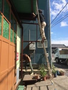 木工所 ペンキ DIY 高所
