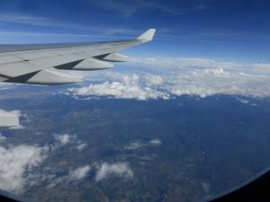航空機内からの風景