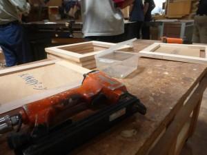 研修の大筋となる木箱の製作。