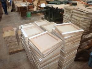 大量の側板