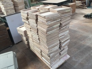 木組み製作中