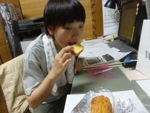 劉さんも沢山食べました