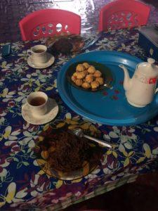 家庭的な朝ご飯