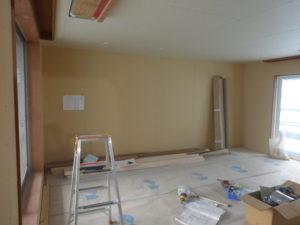 現地作業 壁面収納