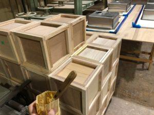 木製 小箱 製作中