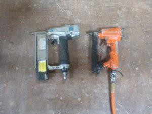 エア工具たち フィニッシュとタッカー